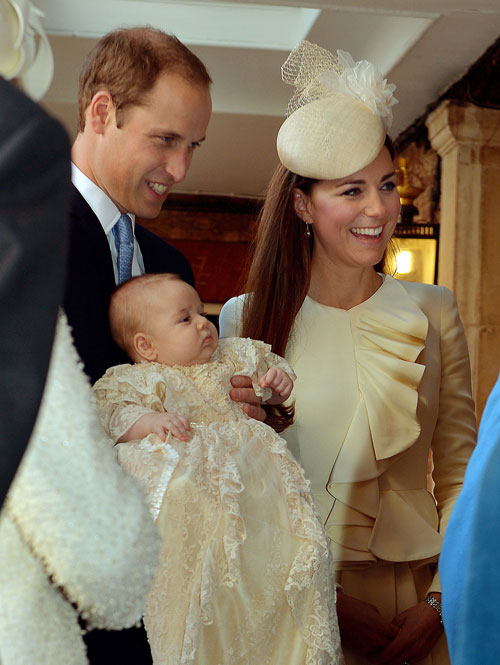 The Look IS Prince George's Lace Christening Gown