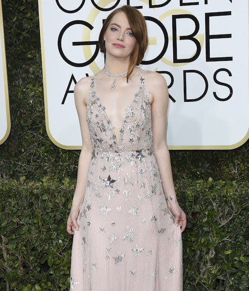 Emma Stone Really Didn't Want To Talk About Her Dress Last Night