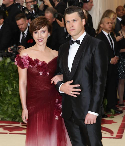 Scarlett Johansson Showed Up To The The Met Gala In Marchesa