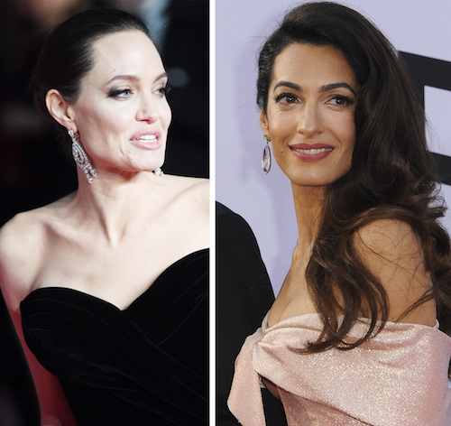 Page Six SaysThat Angelina Jolie Thinks Amal Clooney Is Copying Her