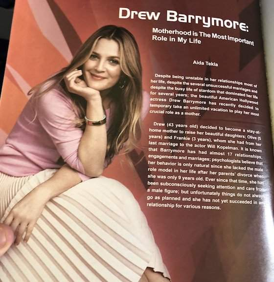 EgyptAir Got Caught Publishing A Fake Interview With Drew Barrymore