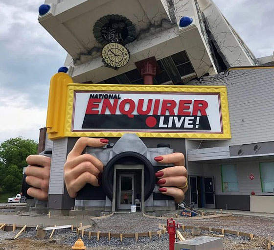 The National Enquirer Live! Theme Park Opened A Princess Diana's Death Attraction