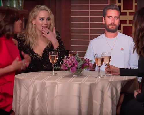 "Jennifer Lawrence Had Her Dream Dinner Party (Sans Scott Disick) On ""What What Happens Live"""
