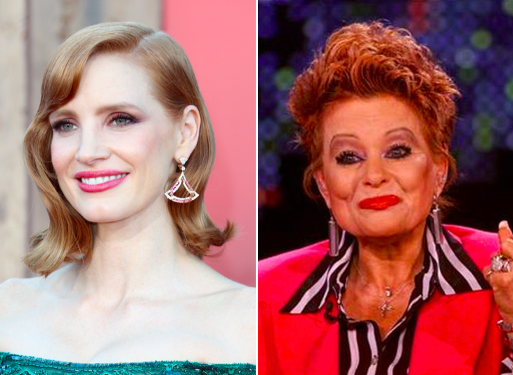 Here's Your First Look At Jessica Chastain As Tammy Faye Bakker